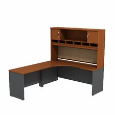Series C L Shaped Corner Desk with 2 Door Hutch