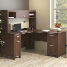 Enterprise L Shaped Corner Desk with Hutch