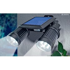 Solar Powered Security Two Super Bright Spotlight
