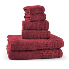 100% Egyptian Cotton Jacquard 6 Piece Towel Set