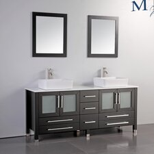 "Malta 71"" Double Bathroom Vanity Set with Mirrors"