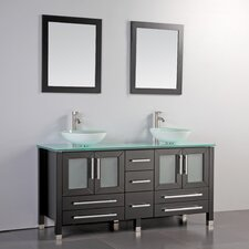 "Cuba 71"" Double Bathroom Vanity Set with Mirrors"