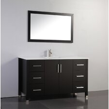 "Monaco 60"" Single Sink Bathroom Vanity Set with Mirror"