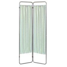 "68"" x 27"" Economy Folding Screen Frame 2 Panel Room Divider"