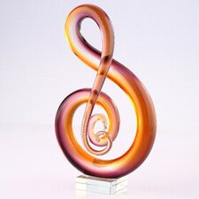 Glass Snake Sculpture