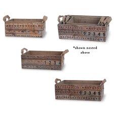 3 Piece Nested Wood Box Set