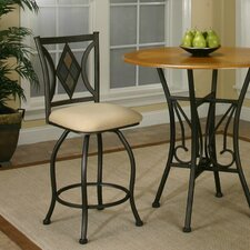 "Casual Dining Dart 24"" Swivel Bar Stool with Cushion"