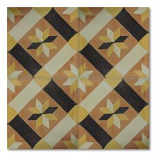 "Cortoba 8"" x 8"" Marble Hand-Painted Tile in Multi-Color"