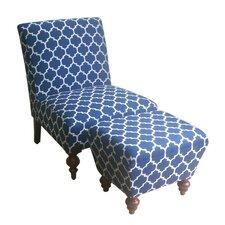 Slipper Accent Chair & Ottoman