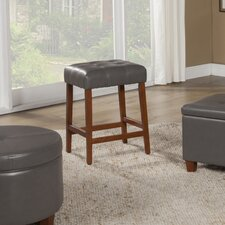 """Tufted Square 24"""" Bar Stool with Cushion"""