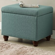 Upholstered Storage Cube Ottoman