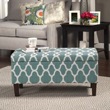 Upholstered Decorative Storage Ottoman