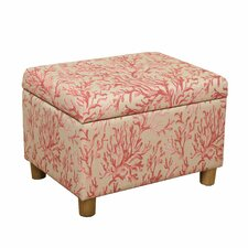 Coral Medium Storage Ottoman