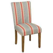 Striped Parsons Chair