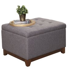 Upholstered Storage Cocktail Ottoman