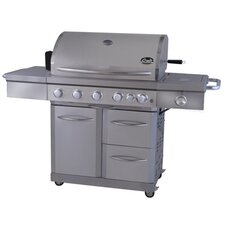 Deluxe Gas Grill with Rear Burner and Rotisserie Burner
