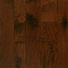 Artesian Random Width Engineered Hickory Hardwood Flooring in Mull Spice