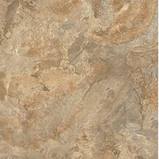 "Alterna Mesa Stone 16"" x 16"" Luxury Vinyl Tile in Terracotta/Clay"