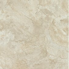 "Alterna Mesa Stone 16"" x 16"" Luxury Vinyl Tile in Chalk"