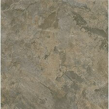 "Alterna Mesa Stone 16"" x 16"" Luxury Vinyl Tile in Gray/Brown"