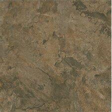 "Alterna Mesa Stone 16"" x 16"" Luxury Vinyl Tile in Chocolate"
