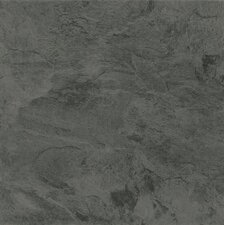 "Alterna Mesa Stone 16"" x 16"" Luxury Vinyl Tile in Charcoal"