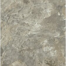 "Alterna Mesa Stone 16"" x 16"" Luxury Vinyl Tile in Light Gray"