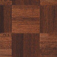 """Urethane Parquet 12"""" Solid Oak Parquet Hardwood Flooring in Cinnabar"""