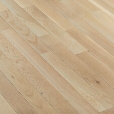 "Fulton 2-1/4"" Solid White Oak Hardwood Flooring in Winter White"