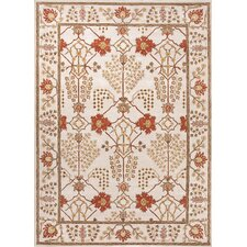 Poeme Ivory/Red Arts and Craft Rug