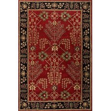 Poeme Red/Black Arts and Craft Rug