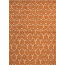 Barcelona Estrellas Orange Indoor/Outdoor Area Rug