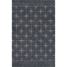 Traditions Made Modern Hand Tufted Wool Indigo Area Rug
