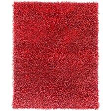 Shimmer Velvet Red Area Rug