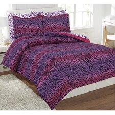 Zebra Leopard Bed in a Bag Set