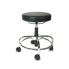 Height Adjustable Utility Stool with Dual Wheel