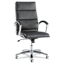 High-Back Soft-Touch Leather Neratoli Slim Profile Executive Chair