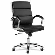 Neratoli Mid-Back Slim Profile Leather Office Chair