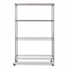 "Complete Wire 72"" H 4 Shelf Shelving Unit"