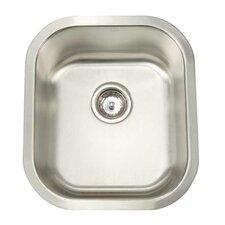"Premium Series 16.5"" x 18.5"" Undermount Single Bowl Bar Sink"
