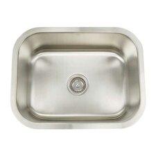 "Premium Series 23.125"" x 18"" Rectanglular Single Bowl Undermount Kitchen Sink"