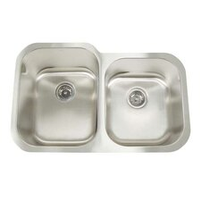 """Manhattan 31"""" x 20"""" Double Bowl Undermount Kitchen Sink"""