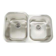 """Premium Series 31"""" x 20"""" Double Bowl Undermount Kitchen Sink"""