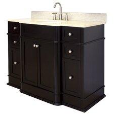 "50"" Single Traditional Birchwood-Veneer Bathroom Vanity Set"