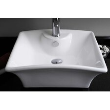 Above Counter Rectangle Vessel Bathroom Sink