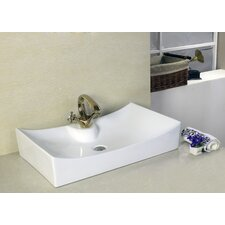 Above Counter Rectangle Vessel Bathroom Sink