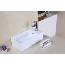 Above Counter Rectangle Vessel Sink with Overflow