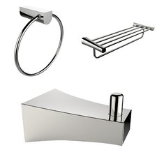 Wall Mounted Robe Hook, Multi Rod Towel Rack and Towel Ring