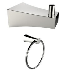 Wall Mounted Towel Ring and Robe Hook