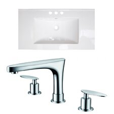 Xena Double Handle Ceramic Top with Off Center Faucet